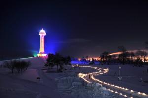 百年記念塔ライトアップ2013
