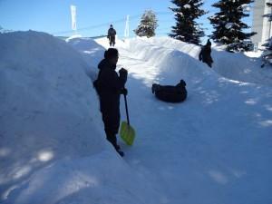 冬まつり 滑り台
