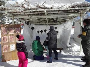 冬まつり 雪玉ビンゴゲーム